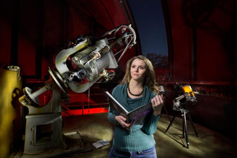 Renata Cumbee. Photo taken in observatory.