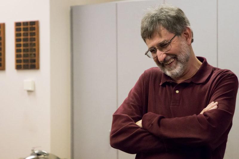 Travis Ragsdale smiles at retirement reception