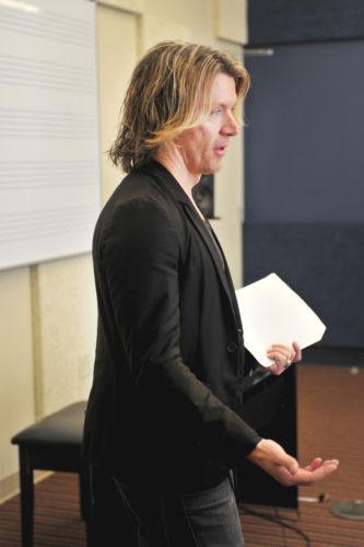 Brandon Goff in classroom