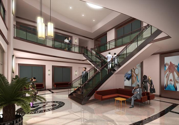 Health Sciences Center rendering lobby