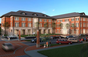 Health Sciences Center rendering outside