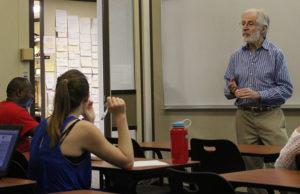 Peter Whelan in classroom