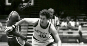 Robert Moore on the court in 1980
