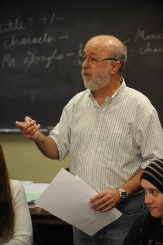 Lynn Kostoff teaching in class