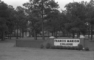 Old Francis Marion College sign